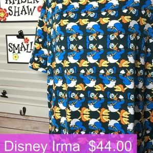 LuLaRoe Disney Donald Duck Irma Small **NEW**
